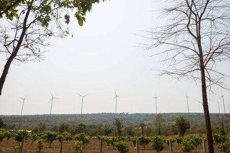 Windmills for electric power production on mountain