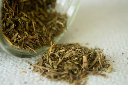 close up of thyme nd black pepper