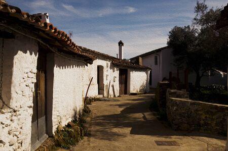 Semi-abandoned village in the Sierra of Huelva natural light oil effect
