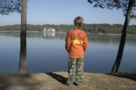 CHILD in swamps CUBILLAS Stock Photo - 4093973