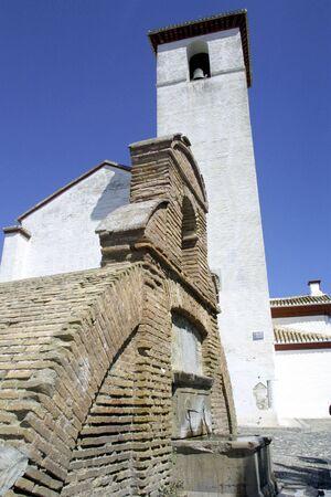 andalucia: Cistern of St. Nicholas in the Albaicin in Granada