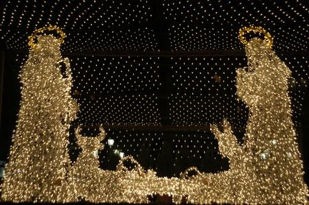 LIGHTING CHRISTMAS IN BETHLEHEM GRANADA PORTAL Stock Photo - 3946673