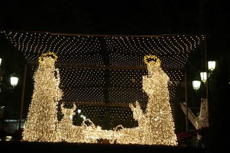 LIGHTING CHRISTMAS IN BETHLEHEM GRANADA PORTAL photo