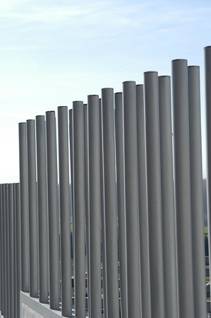 parallelism: Metal fence Stock Photo