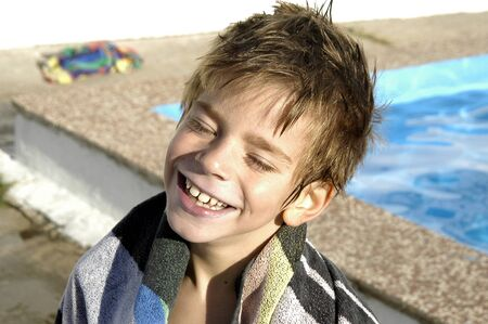 Child in pool Stock Photo - 3941235