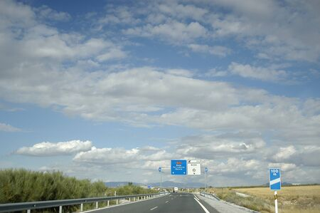 A-92 motorway between Granada and Baza Stock Photo - 3942087