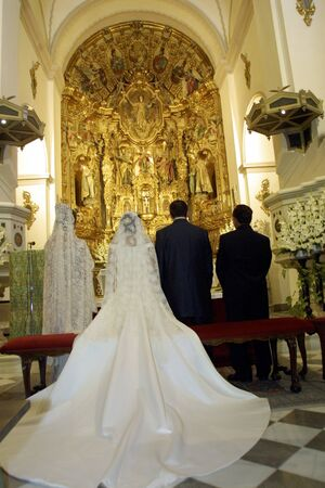 Catholic wedding ceremony in church