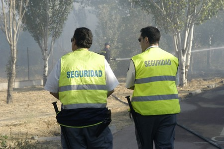 shutting: Firefighters in fire