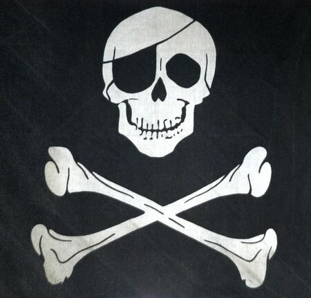 Symbol of death warm with skull Stock Photo - 3942119