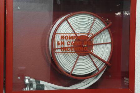 extinguishers: Fire Hose Stock Photo
