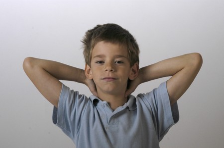 between 5 and 10 years: boy with short-sleeved shirt