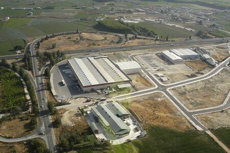 Luftbild von Industriegebiet von Santa Fe