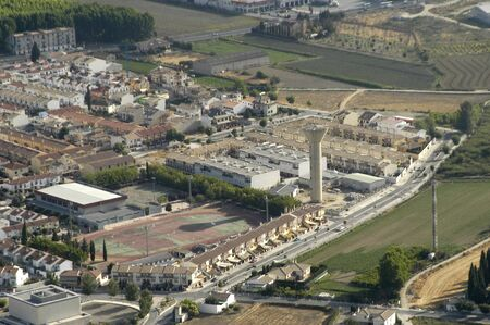 Aerial view of the industrial area of Santa Fe Stock Photo