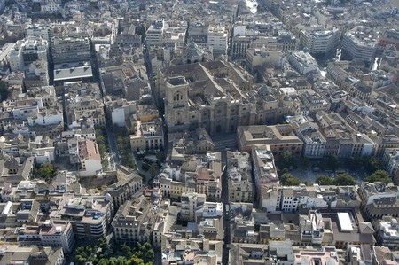 Aerial view of the Cathedral of Granada