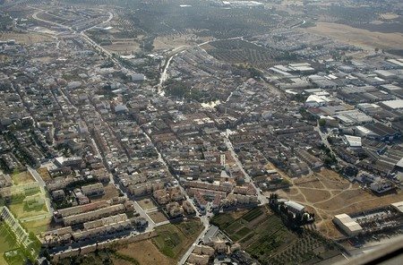 Aerial view of the town of Peligros in the province of Granada Stock Photo - 3969034