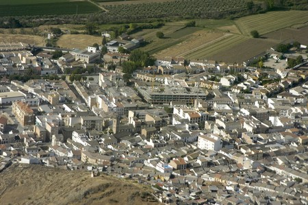 Aerial view of the town of Pinos Puente in the province of Granada Stock Photo - 3970877