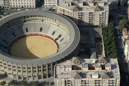 Aerial view of the MONUMENTAL Bullring GRANADA photo