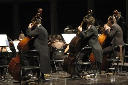 classical music: Orchestra concert van klassieke muziek