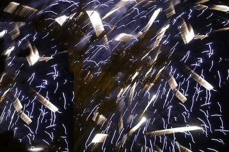 Castle fireworks and pyrotechnics Stock Photo - 4048829