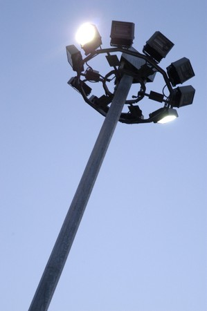 floodlights: Lamp with floodlights