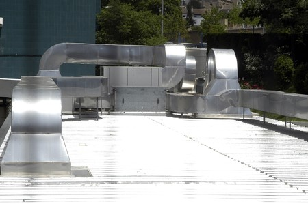 ducts: Air-conditioning system in hospital
