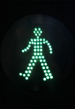 prohibitions: crosswalk lights of a city