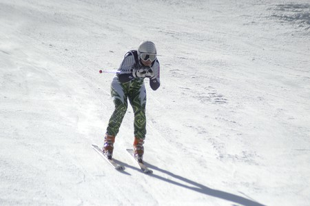 Womens giant slalom of the World Championship in Sierra Nevada photo