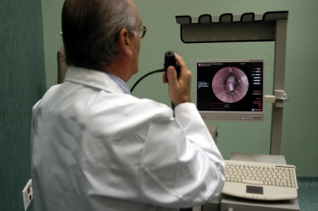 tumors: Simulator endoscopy clinic Stock Photo