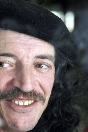 berets: Man with a beret and a mustache