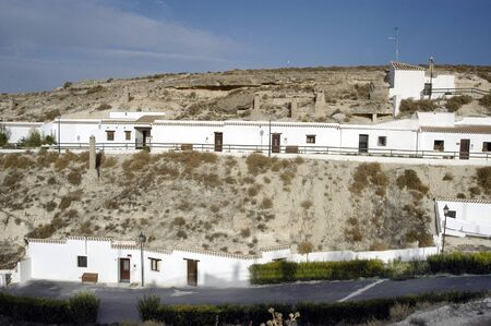 fireplaces: Typically houses cave in Orce Stock Photo