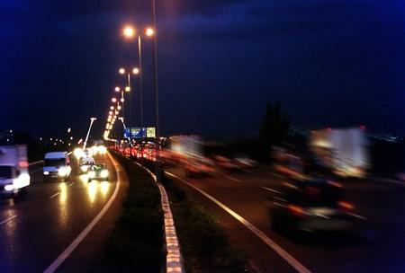 effondrement: R�duire la circulation de nuit � Grenade Banque d'images