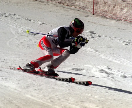 Spanish championship downhill skiing in the form of giant