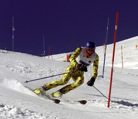 razas de personas: Campeonato de Espa�a de Esqu� alpino Foto de archivo