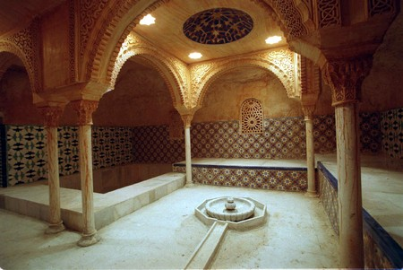Arab baths in Granada Stock Photo