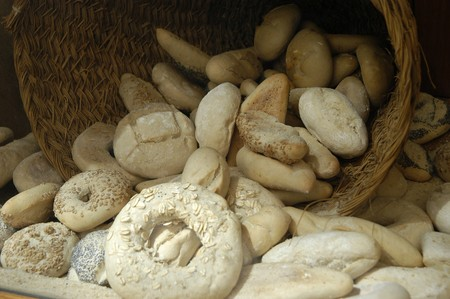 madalena: DIFFERENT WAYS OF PAN, in a bakery  Stock Photo