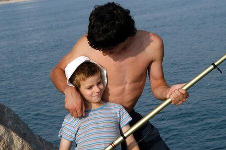 Brothers fishing Stock Photo - 4052099