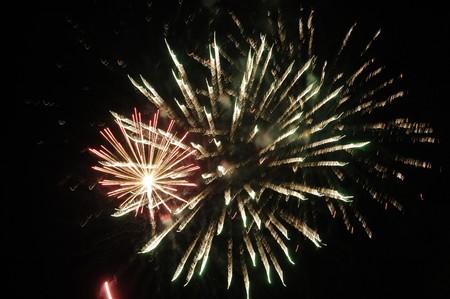 Celebration with fireworks photo
