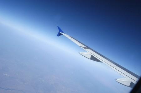 Airplane in flight  photo