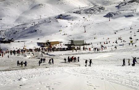 Ski slopes in Sierra Nevada photo
