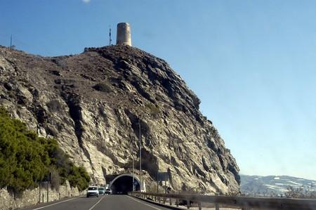 View of the tunnel the coastal town of La Mamola photo