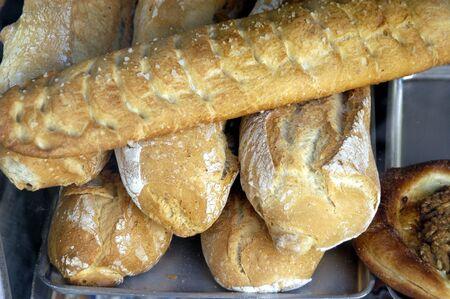 Pieces of bread Foto de archivo