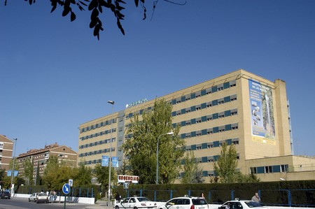 outpatient: Hospital trauma Granada Stock Photo