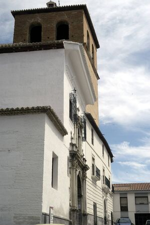 merced: FRONT OF THE FRANCISCAN CHURCH OF THE CONVENT OF THE TOWN OF MERCED BAZA (GRANADA)