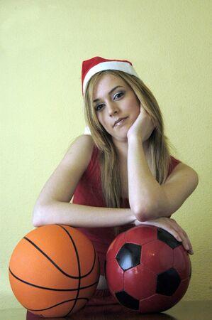 Female Athlete in Christmas photo