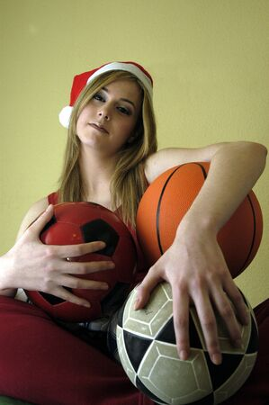 Female Athlete in Christmas photo