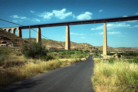 BRIDGE FOR THE RAIL, NEAR BELERDA IN THE REGION OF DE LA HOYA GUADIX, in Granada province photo
