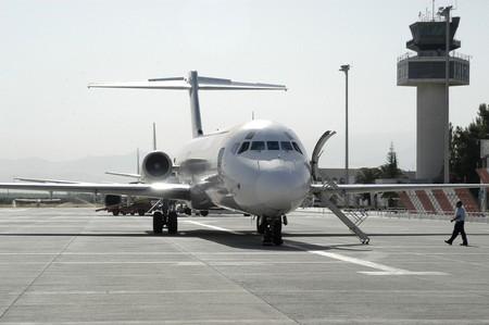 Control tower, and small planes AIRCRAFT IN AIRPORT Federico García Lorca Granada JAEN