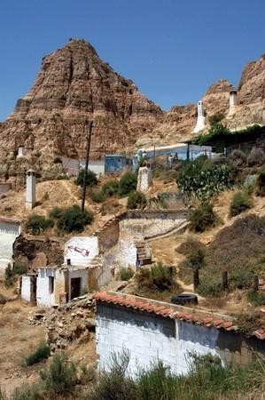 troglodytes: Housing troglodytes in Guadix (Granada) Stock Photo