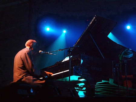 Pianist in jazz concert