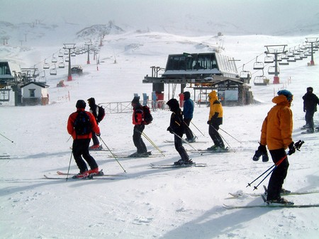 station ski: And ski station of Sierra Nevada in Spain